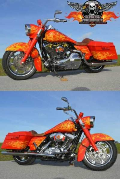 2005 Harley-Davidson ROAD KING SCREAMIN EAGLE RUCKER PRO MOD CUSTOM Extreme Signature Custom Toxic Paint and Flames for sale craigslist