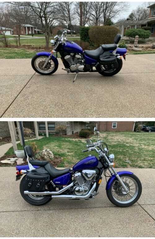 2005 Honda Shadow VLX Deluxe Blue for sale