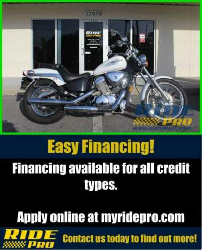2005 Honda Shadow VLX Deluxe White for sale