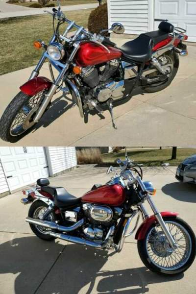 2006 Honda Shadow Red for sale craigslist