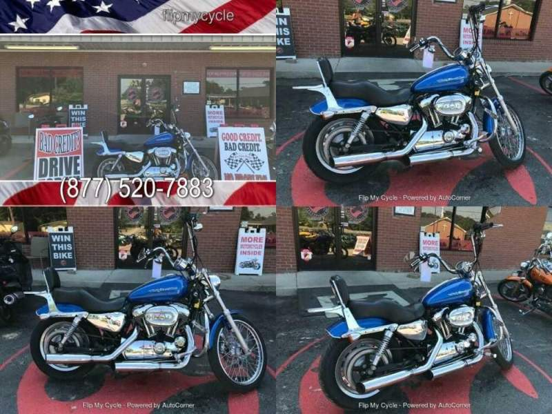 2007 Harley-Davidson XL1200C Sportster -- Blue for sale