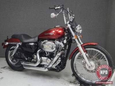 2008 Harley-Davidson Sportster XL1200C 1200 CUSTOM CANDY RED SUNGLO for sale