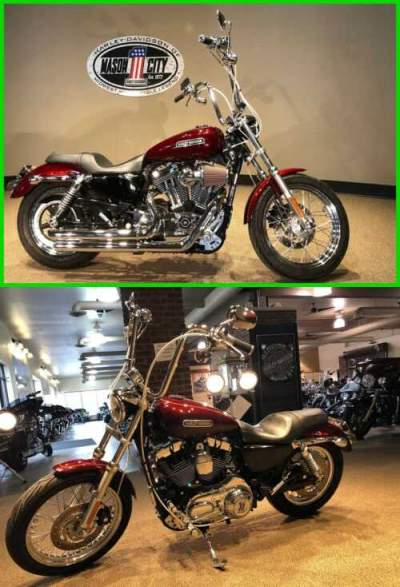 2008 Harley-Davidson Sportster 1200 Low Crimson Red Sunglo for sale