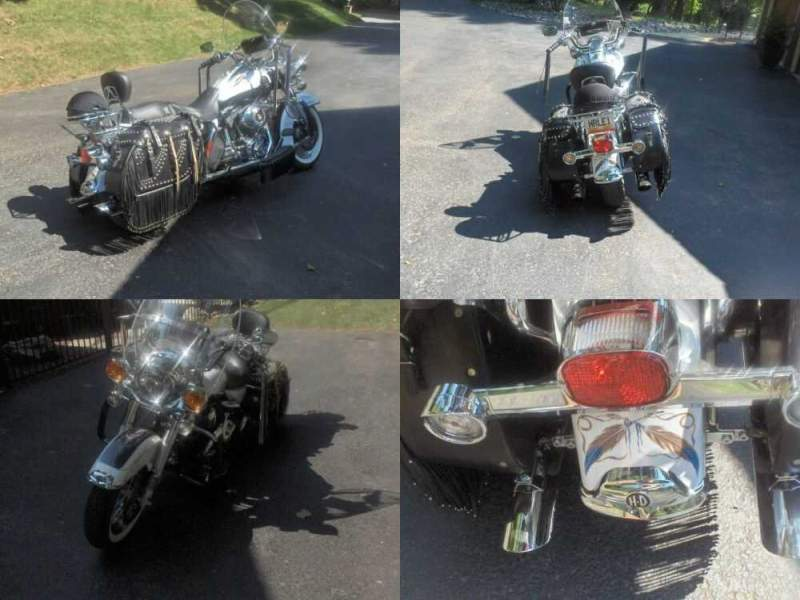2008 Harley-Davidson Touring Black and White Pearl for sale