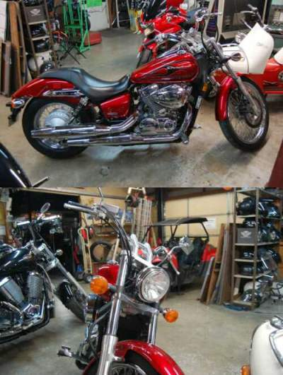 2008 Honda Honda Shadow Spirit 2008 Red for sale craigslist