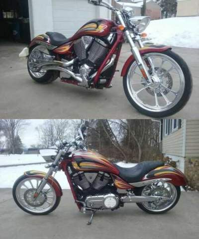 2008 Victory Arlen Ness Jackpot ANSS Burgundy for sale