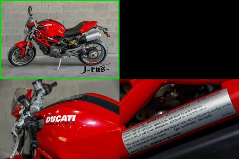 2009 Ducati Monster LCD Tachometer w/ Digital Speedometer Single Sided Swing arm Red for sale