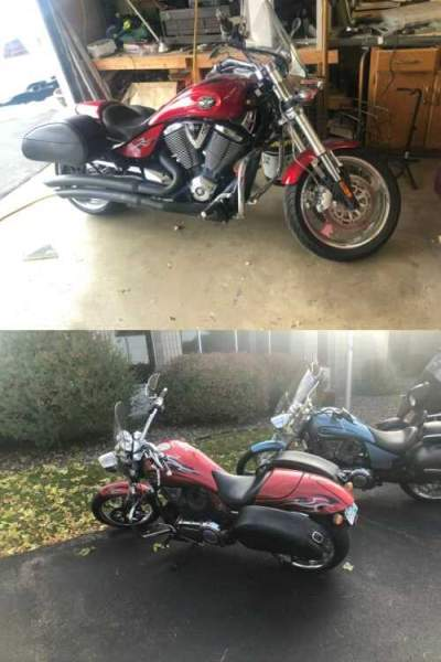 2009 Victory Hammer Red for sale craigslist