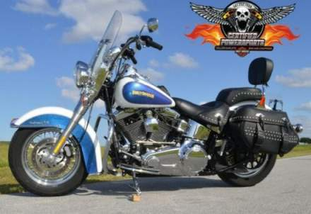2010 Harley-Davidson HERITAGE CLASSIC SOFTAIL FLSTC $2,000 in Extras! Two-Tone White Hot Pearl / Blue Hot Pearl for sale craigslist