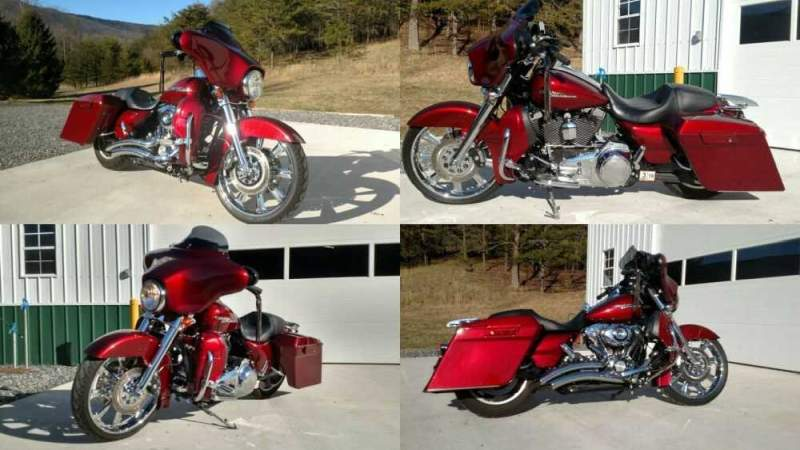 2010 Harley-Davidson Touring Burgundy for sale