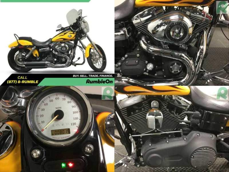 2011 Harley-Davidson Dyna CALL (877) 8-RUMBLE Yellow for sale