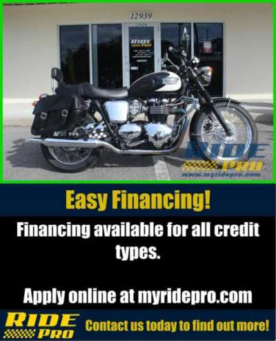 2011 Triumph Bonneville T100 BLACK/WHITE for sale craigslist
