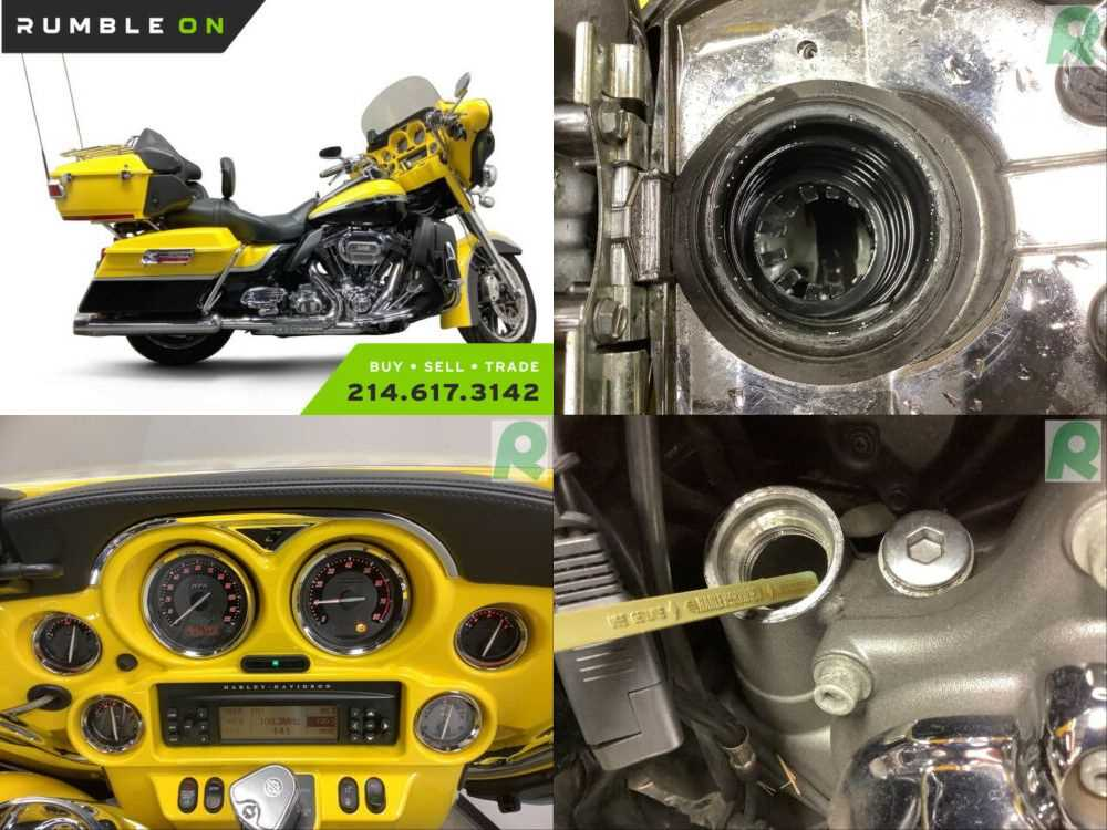 2012 Harley-Davidson FLHTCUSE7 CVO CALL (877) 8-RUMBLE Yellow for sale