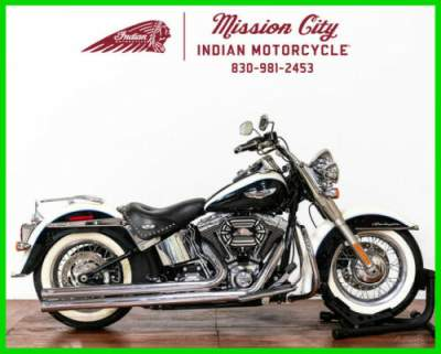 2013 Harley-Davidson Softail FLSTN - Deluxe Birch White / Midnight Pearl for sale