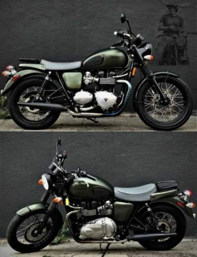 2013 Triumph Bonneville MILITARY GREEN for sale