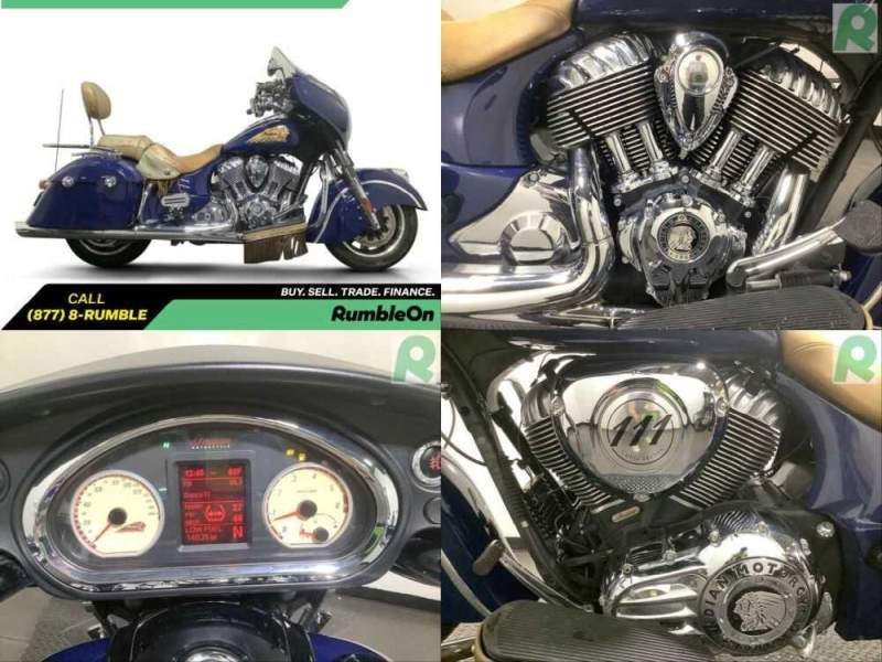 2014 Indian Chieftain CALL (877) 8-RUMBLE Blue for sale