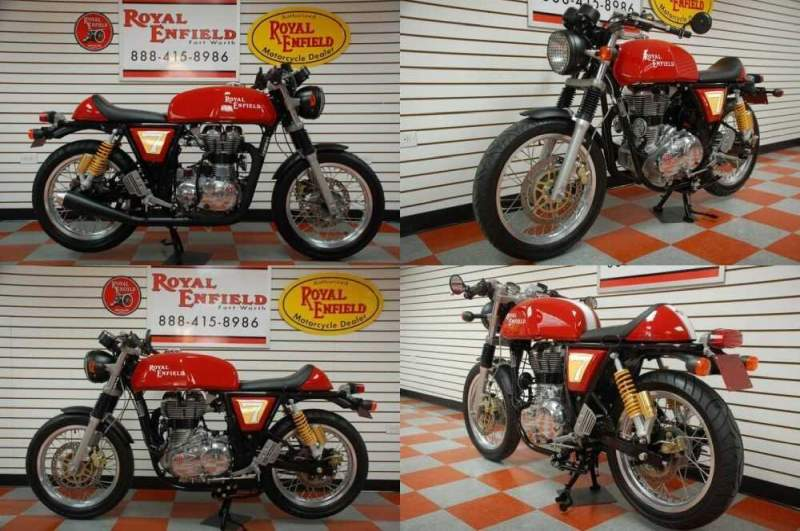 2014 Royal Enfield CONTINENTAL GT 535 CAFE RACER DEMO Red for sale craigslist