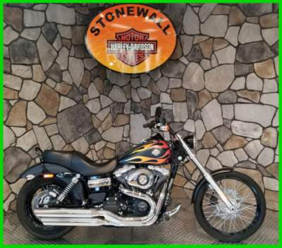 2015 Harley-Davidson Dyna Wide Glide Black Denim with Old Skool Graphic for sale