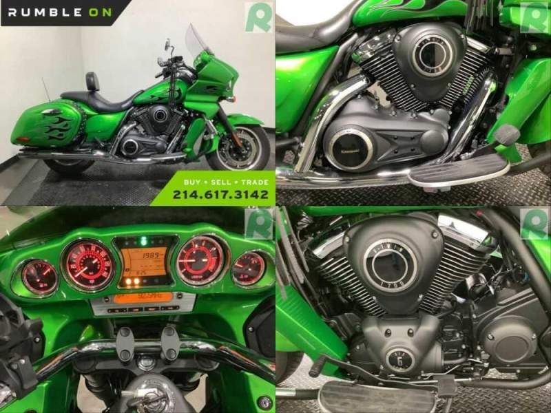 2015 Kawasaki VN1700KFFL VULCAN 1700 VAQUERO CALL (877) 8-RUMBLE Green for sale craigslist