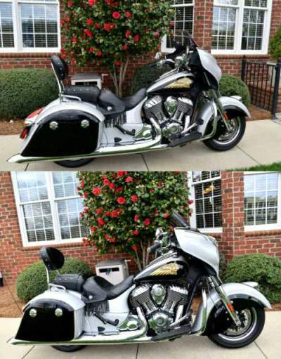 2016 Indian Chieftain Silver/Black for sale craigslist