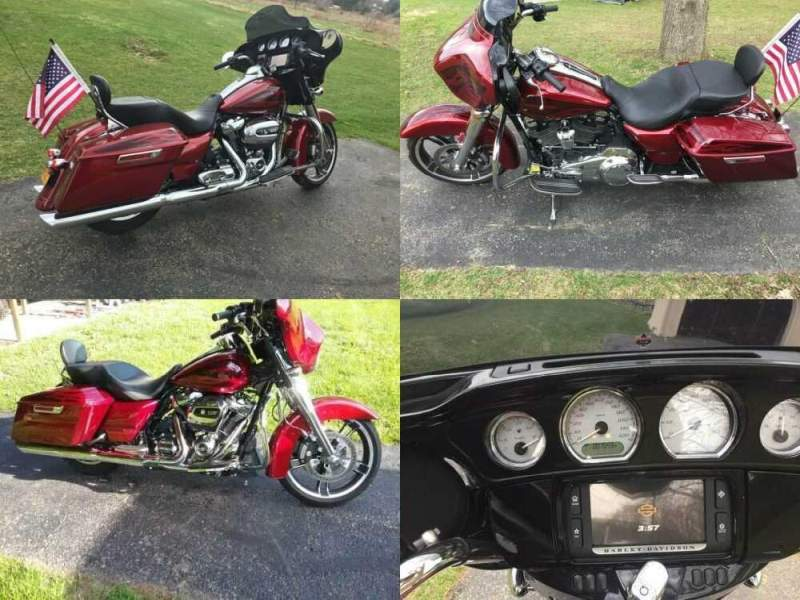 2017 Harley-Davidson Street Glide Special Hot Rod Red w/ metal flake/flames for sale