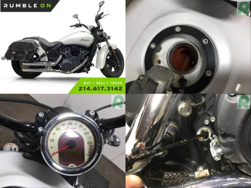 2017 Indian SCOUT SIXTY (PEARL WHITE) CALL (877) 8-RUMBLE White for sale