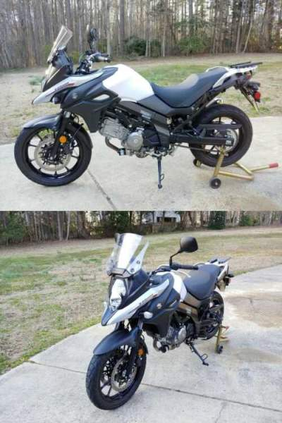 2017 Suzuki VStrom 650 ABS/TC White for sale