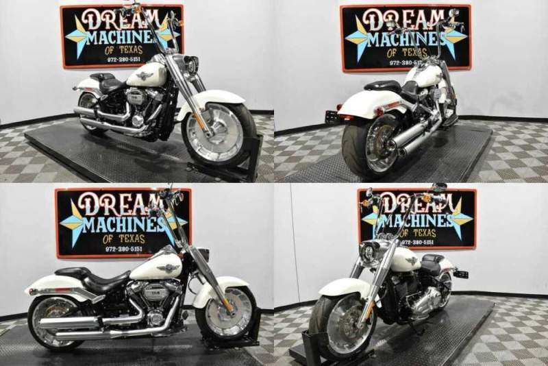 2018 Harley-Davidson FLFBS - Softail Fat Boy 114 Bonneville Salt Pearl for sale
