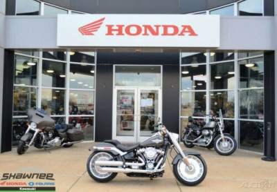 2018 Harley-Davidson Softail 2018 Harley-Davidson Softail FLFB Fat Boy Used Gray for sale