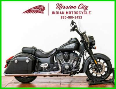 2018 Indian Springfield Dark Horse ABS Thunder Black Smoke Thunder Black Smoke for sale