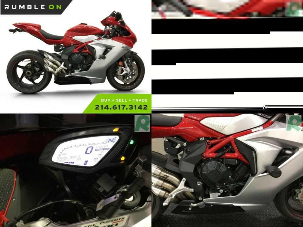 2018 MV Agusta F3 800 RC CALL (877) 8-RUMBLE Red for sale