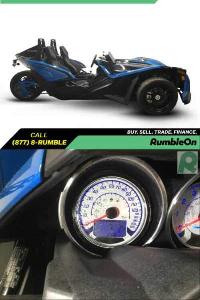 2018 Polaris SLINGSHOT SLR CALL (877) 8-RUMBLE Blue for sale craigslist