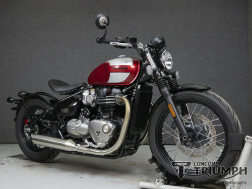 2018 Triumph Bonneville CRANBERRY RED/FROZEN SILVER for sale