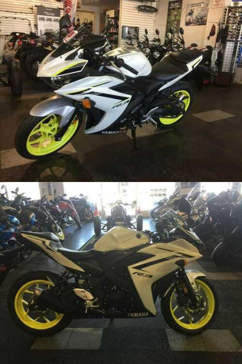 2018 Yamaha YZF-R3 White for sale