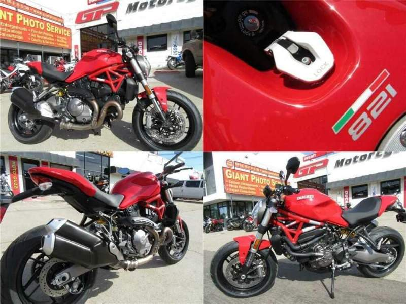 2019 Ducati Monster 821 Red Red for sale