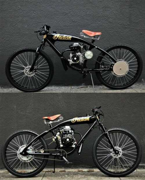 1930 Indian STEEL BUFFALO MOTORS board track Cruiser Gloss black/patina/gold for sale