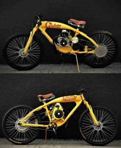 1930 Indian STEEL BUFFALO MOTORS board track Racer/Cruiser CYCLONE YELLOW DISTRESS PATINA for sale