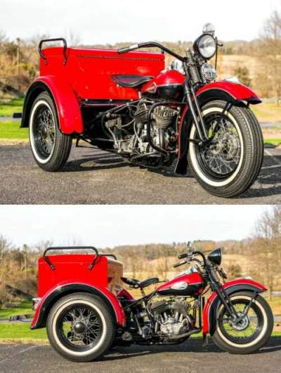 1940 Harley-Davidson Servicar Red & Black for sale craigslist