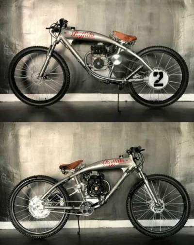 1944 Indian STEEL BUFFALO MOTORS board track Cruiser ANTIQUE SILVER BULLET P-51 M for sale