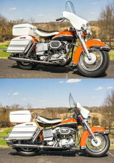 1969 Harley-Davidson FLH Shovelhead Birch White & Orange for sale craigslist