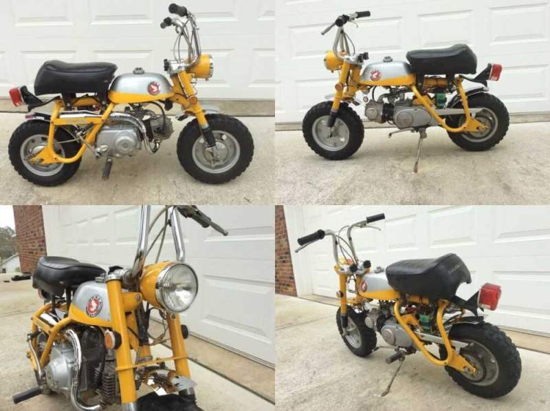 1969 Honda Mini Trail Z50A, Z50 Yellow for sale craigslist