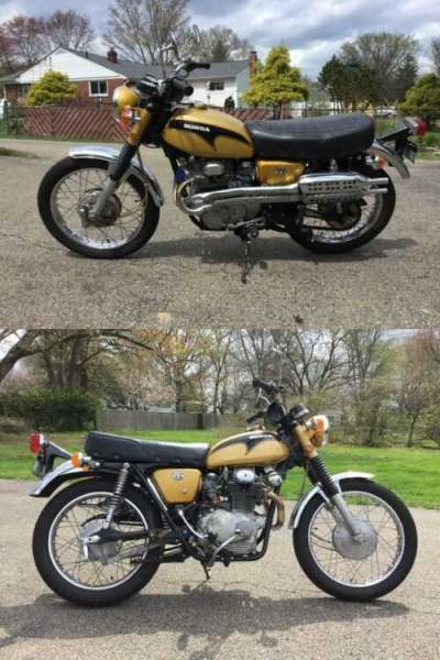 1971 Honda CL350 Scrambler Gold for sale craigslist