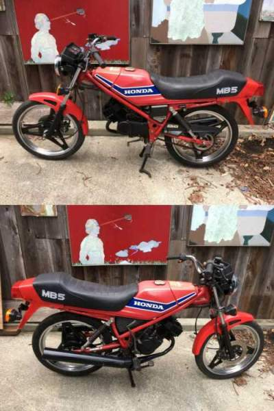 1982 Honda MB5 Red for sale craigslist