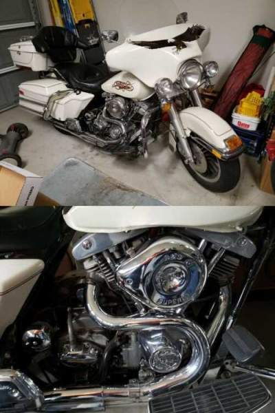 1983 Harley-Davidson 1983 FLHTP White for sale craigslist photo