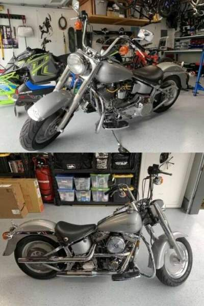 1990 Harley-Davidson Softail Gray for sale