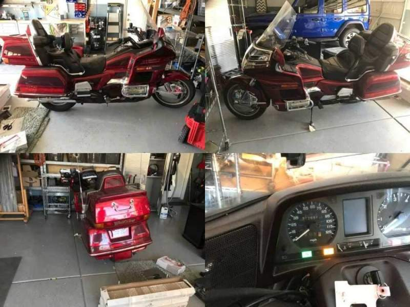 1994 Honda Gold Wing Burgundy for sale craigslist