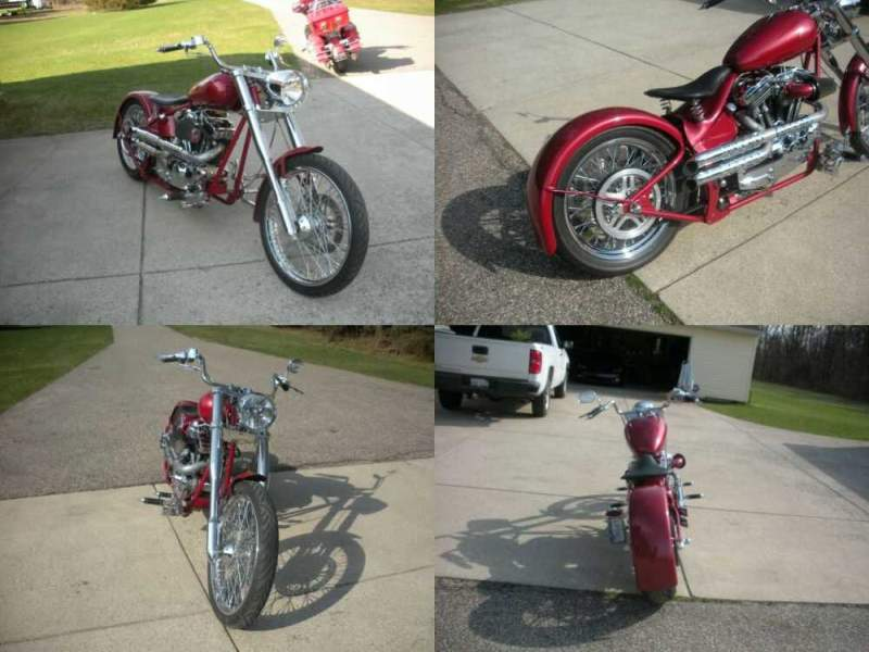 1995 Custom Built Motorcycles Chopper Red for sale craigslist