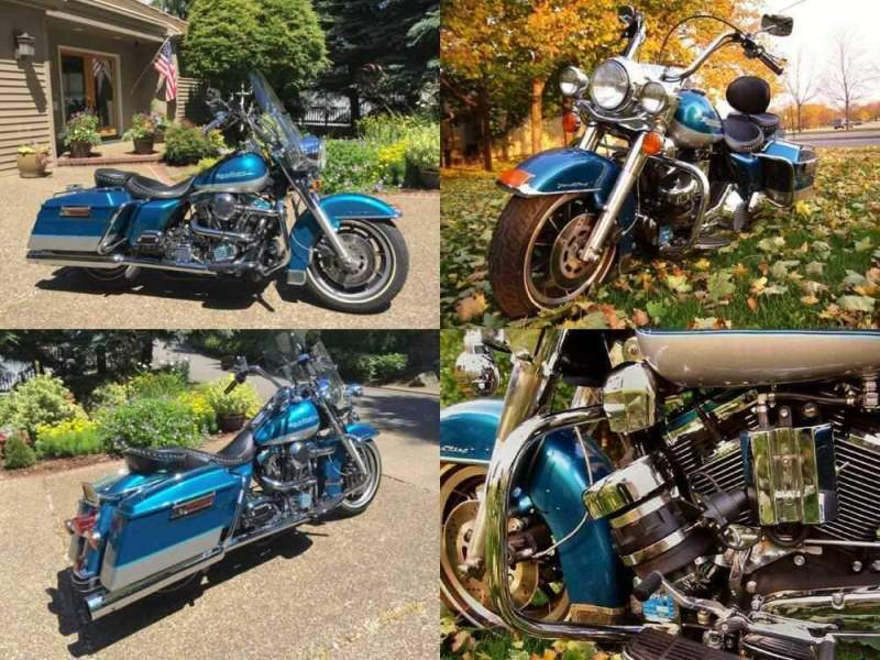 1995 Harley-Davidson Touring Teal/Silver for sale
