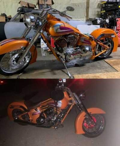 1997 Harley-Davidson Softail Orange for sale craigslist photo