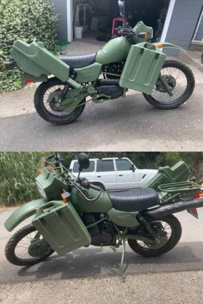 2000 Harley-Davidson MT500 Military Motorcycle olive green for sale